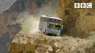 The world's most dangerous bus route 😱 | Mountain: Life at the Extreme - BBC