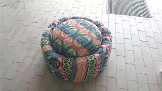 Life Hack | How To Make Sofa with Used Tire | DIY Tyre-Sofa