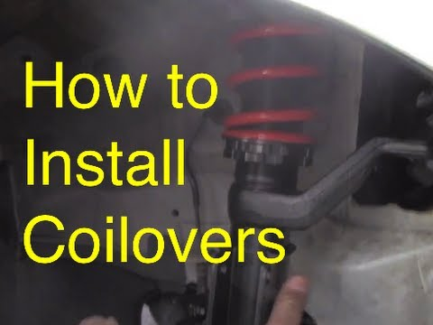 How To Install Coilover How To Lower Slammed Rsx Youtube - How To Install A Front Door