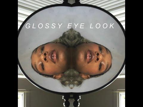 Glossy Eye Look ft  Milk Makeup Eye Vinyl