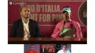 Hangout conVincenzo Nibali, Maglia Rosa del Giro d