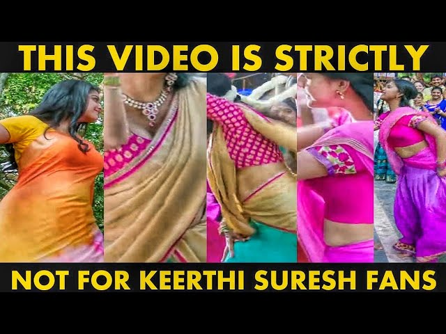Keerthi Suresh Best Saree  Compilation - Part 1
