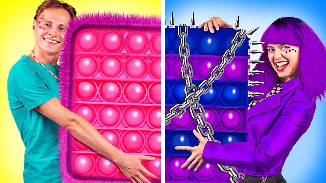 SOFT Boy VS E-GIRL - BUONO VS CATTIVA   Come diventare popolare su La La Vita Scuola