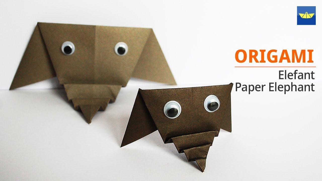 종이접기 Origami Tiere Elefant Origami Animals Elephant