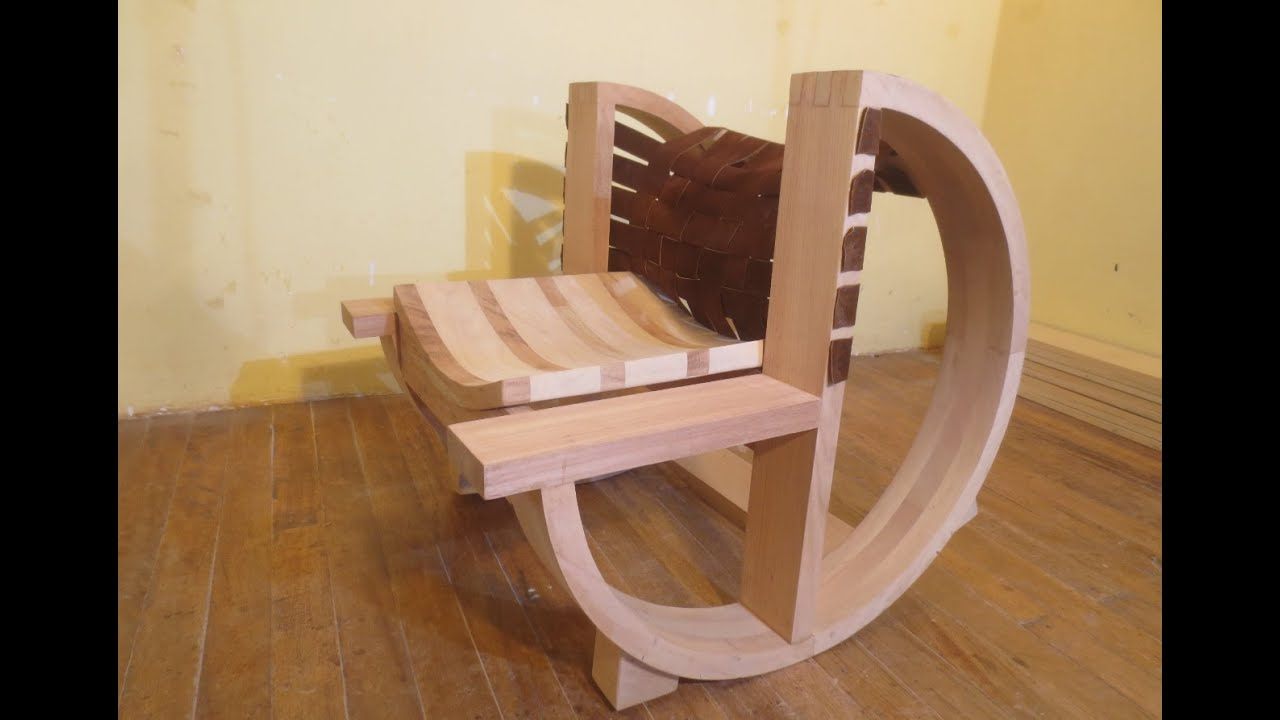 Amazing photo of How to make a wooden rocking chair CARPINTERIA FURNITURE Luis  with #947037 color and 1295x893 pixels