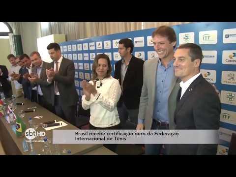 Brasil recebe certificação ouro da Federação Internacional de Tênis