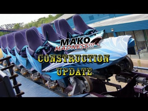 SeaWorld Orlando Mako Construction Update 5.10.16 EXCLUSIVE MEDIA HARD HAT TOUR!!!