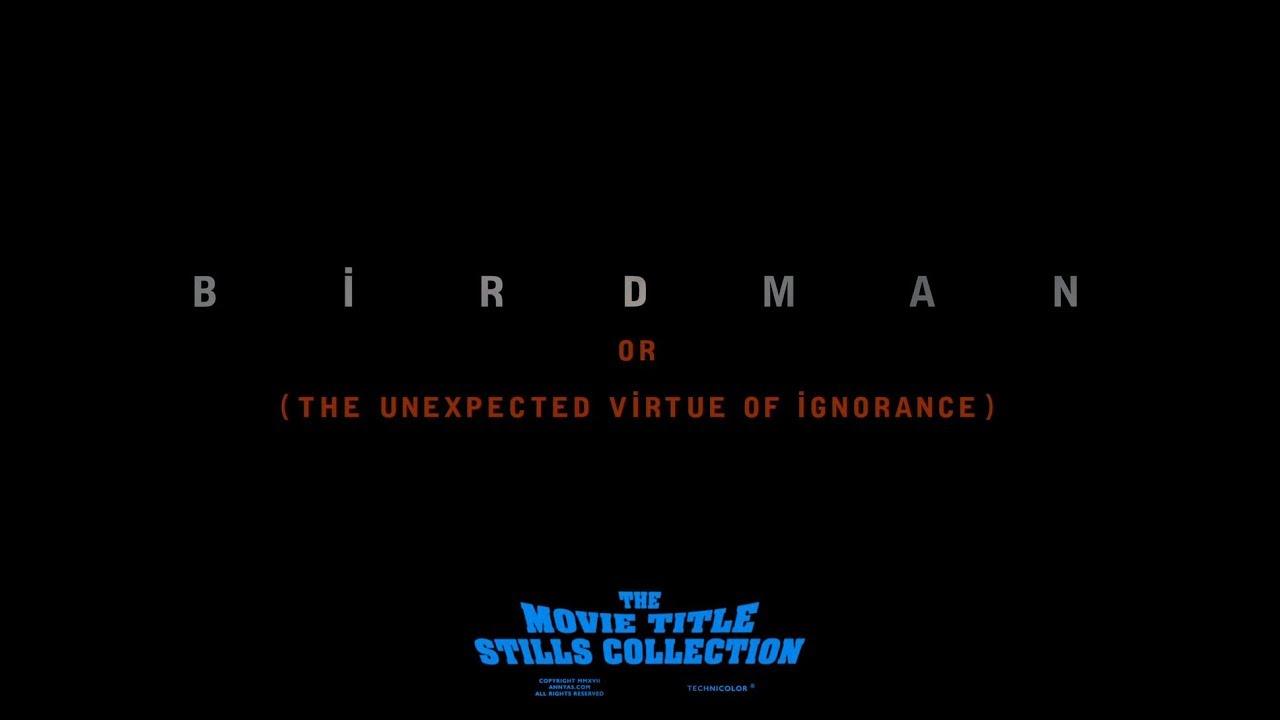 Download Birdman (2014) title sequence