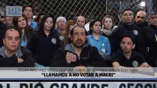"Video: Martínez: ""Llamamos a no votar a Macri"""