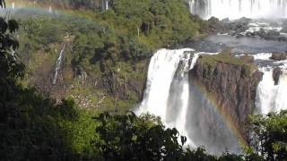 Rainbow over Iguaçu Waterfalls in Brazil