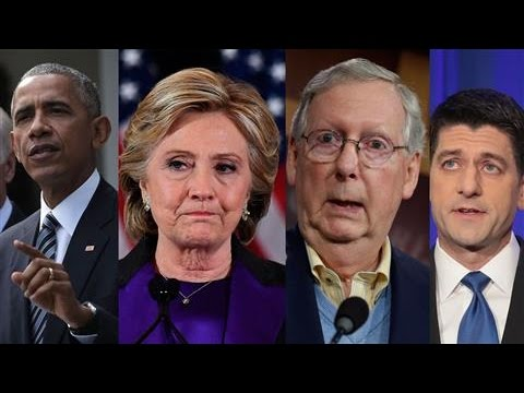 Clinton, Obama, Ryan, McConnell React to Trump Win