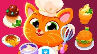 Ресторан котика Бубу | Готовим суши и мороженое в детской игре про котенка Буббу