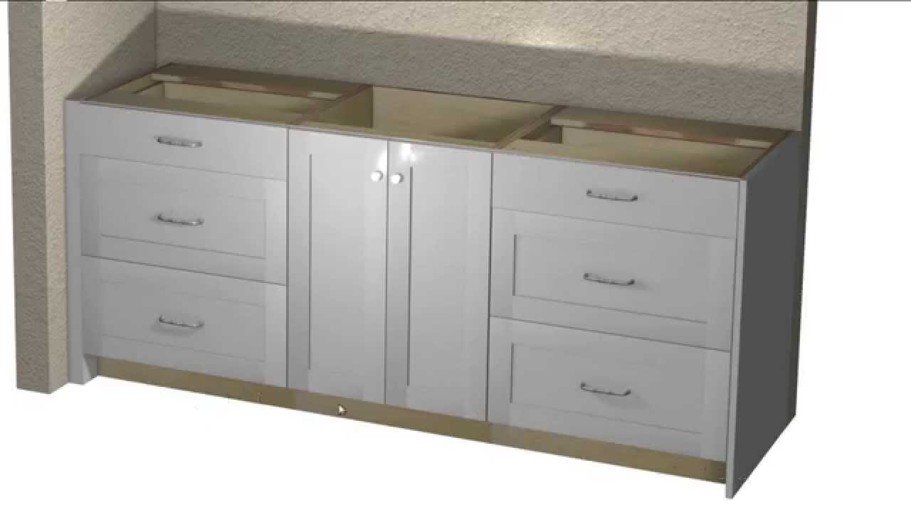 Superior Custom Vanity Cabinet Layout Using Barker Cabinets   YouTube