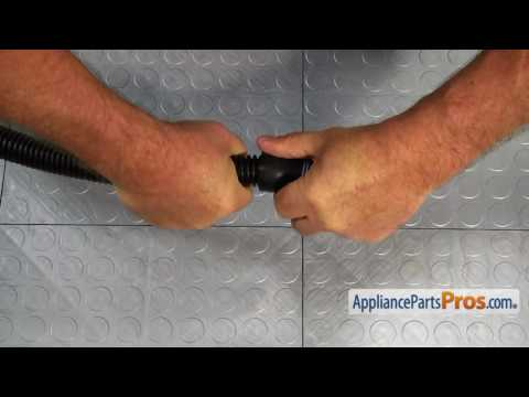 Proper washer drain hose installation