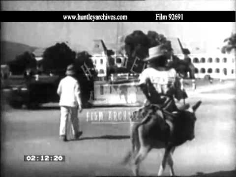 Haiti in the 1930's.  Archive film 92691