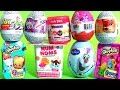 Surprise Bubble Guppies Stacking Cups Kinder Eggs My Little Pony Num Noms Frozen Shopkins Mashems video