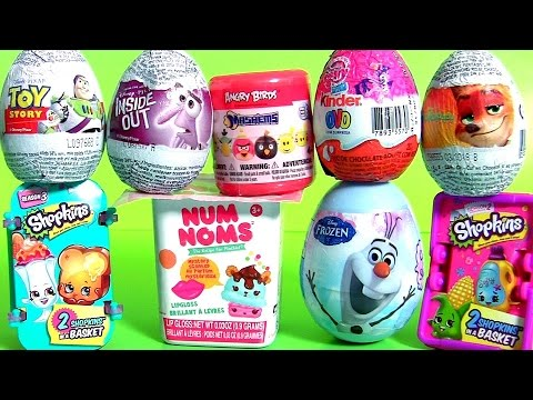 Surprise Bubble Guppies Stacking Cups Kinder Eggs My Little Pony NUM NOMS Frozen Shopkins Mashems