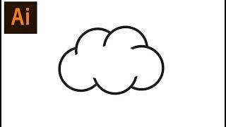 Draw a Cloud icon in Adobe illustrator CC 2017