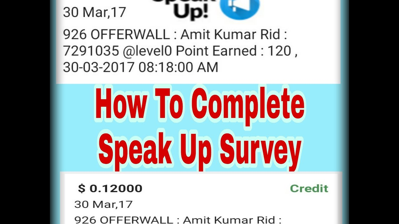 How To Complete Speak Up Survey In Champcash