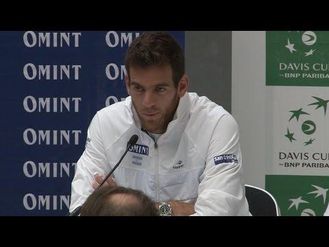 Press Conference With Daniel Orsanic & Juan Martin Del Potro Ahead Of Davis Cup Semi-Final