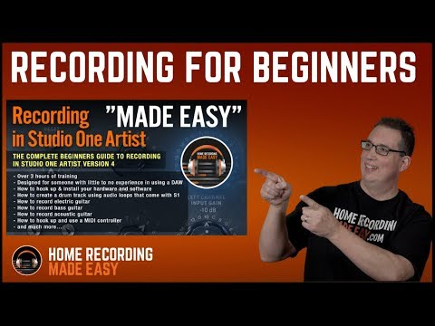 How To Record in Presonus Studio One 3 - MADE EASY Tutorial
