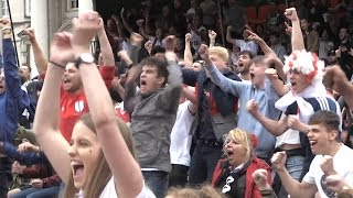 Celebrations in leeds as harry kane scores england's first 2018 world cup goal - russia 2018