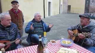 Canto popolare in dialetto bresciano a Cigole (Brescia). Sagra di San Martino.