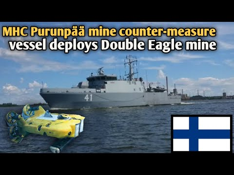 Finnish navy vessel deploys Double Eagle mine disposal vehicle at ...