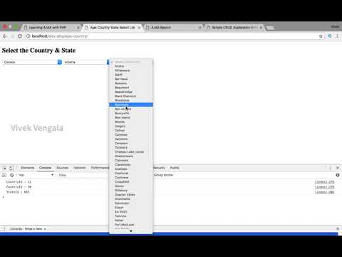 Demo Of Ajax Country State City Select Dropdown List