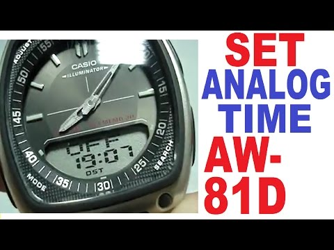 5bcc8a562af8 Setting Casio AW-81D analog time