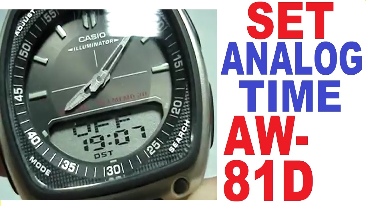 Setting Analog Manual Time81 Casio Aw 81d thQxsrdC