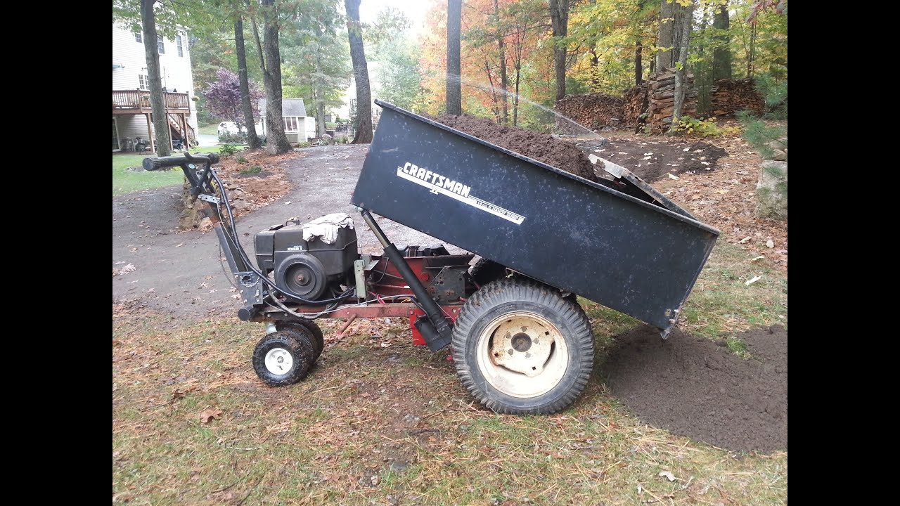 cart trailer lawn mower diy watch garden youtube