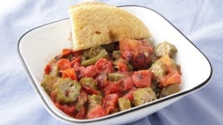 Stewed Tomatos And Okra Recipe - Southern Queen Of Vegan Cuisine 34/328
