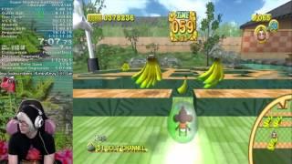 Super Monkey Ball Deluxe Ultimate Run in 1:12:07!