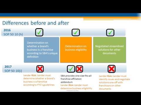 Franchisor Webinar: The New SBA Franchise SOP and the Franchise Registry