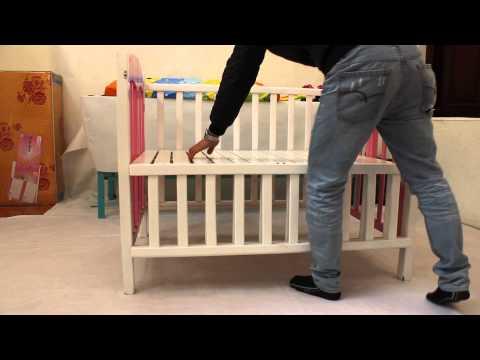 Giường cũi xoan đào 2 trong 1   Kids Plaza