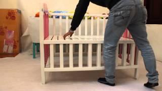 Giường cũi xoan đào 2 trong 1 | Kids Plaza