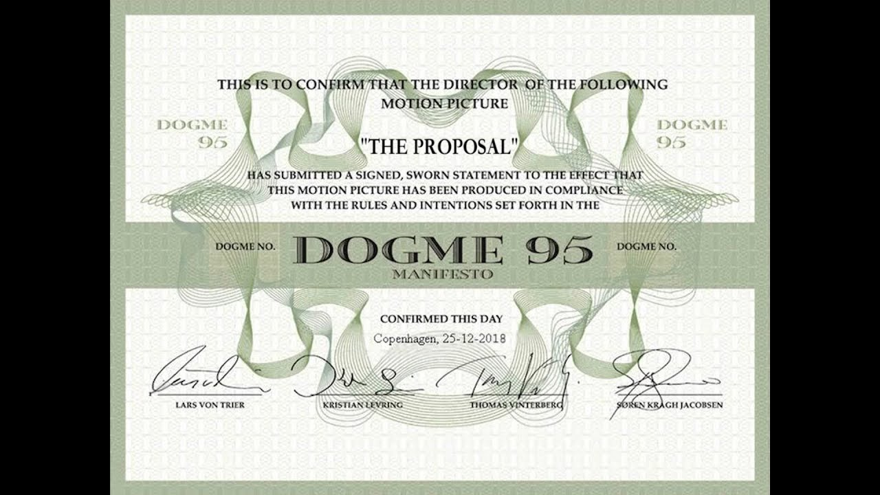 The Proposal Dogme95 Short Film Youtube