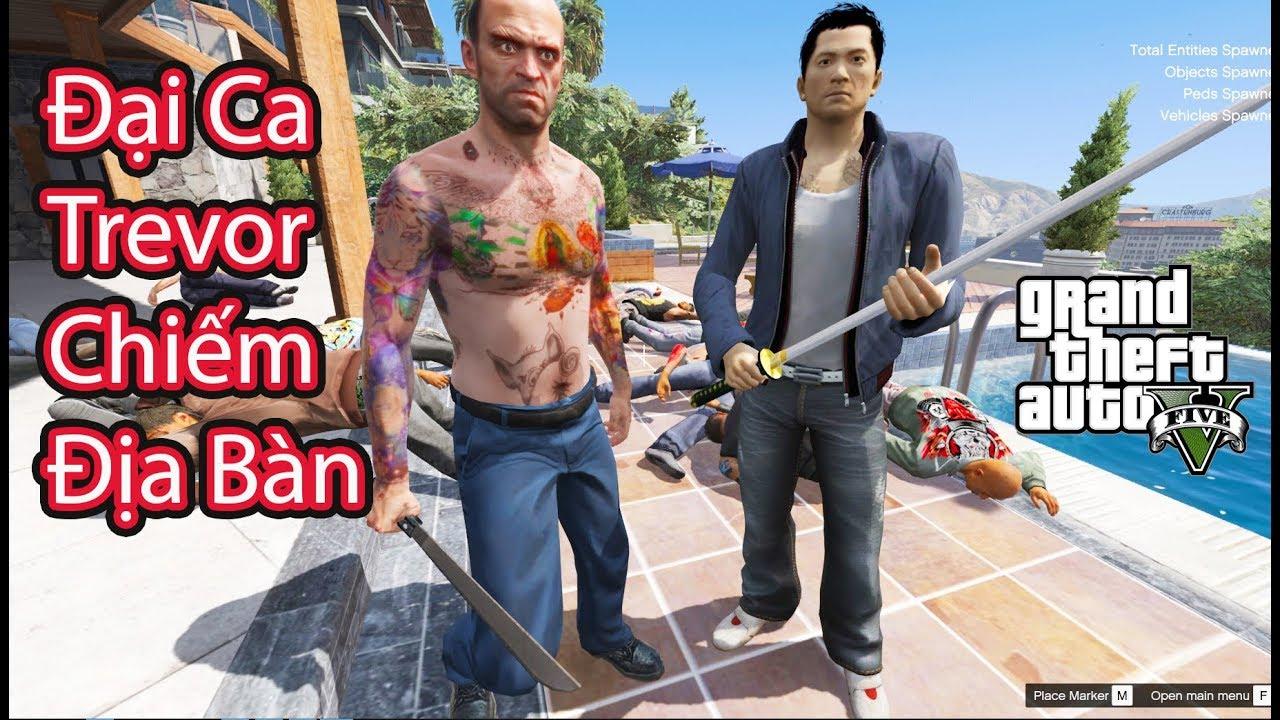 GTA 5 Mod - Đại Ca Trevor Mới Ra Tù Chiếm Địa Bàn Đại Ca Franklin