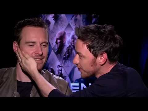 Michael Fassbender & James McAvoy: Behind the Scenes at ...
