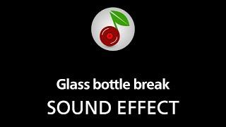 Glass bottle break, sound effect