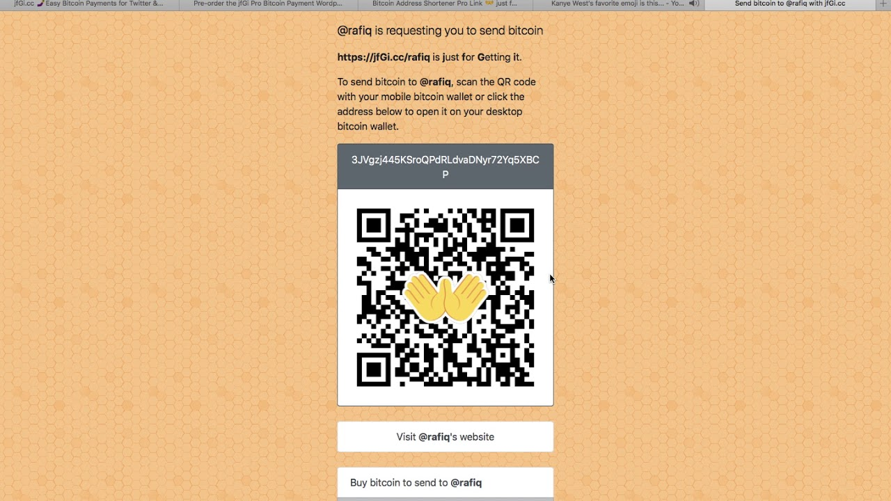 jfGi cc Bitcoin Address Shortener Demo with GreenAddress ft