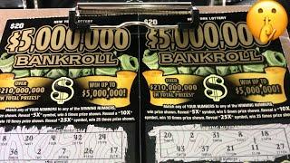 NY Lottery 2-💲20-Dollars💲5,000,000 BankRoll💲