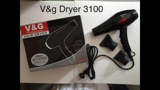V amp G-3100 Professional Hair Dryer Unboxing and in-depth Review Hair Dryer from Flipkart
