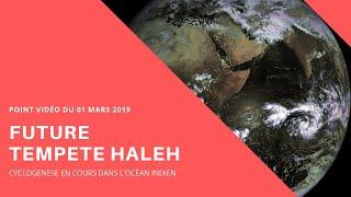 Future tempête tropicale HALEH : Point vidéo du 01/03/2019