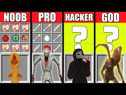 NOOB Vs PRO Vs HACKER GOD Minecraft Battle SCP 096 SHY GUY Versus SCP 173 049 MOD CRAFT GAME HORROR