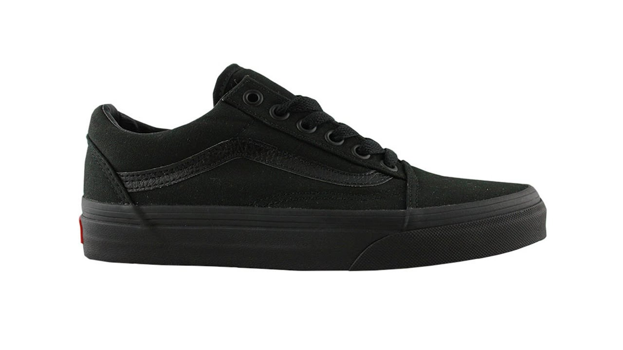 VANS OLD SKOOL BLACK BLACK - YouTube cd3710271