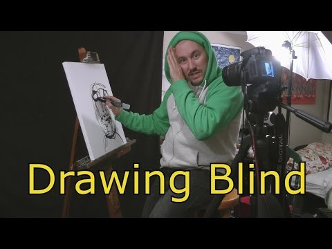 HOW TO DRAW BLIND Experiment Acrylic Painting by RAEART