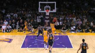 Ronnie Price Steals and Serves Up Wesley Johnson for the Poster Dunk
