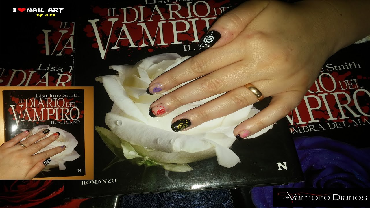 Video Tutorial di Nail Art ispirato dalla serie The Vampire Diaries ...